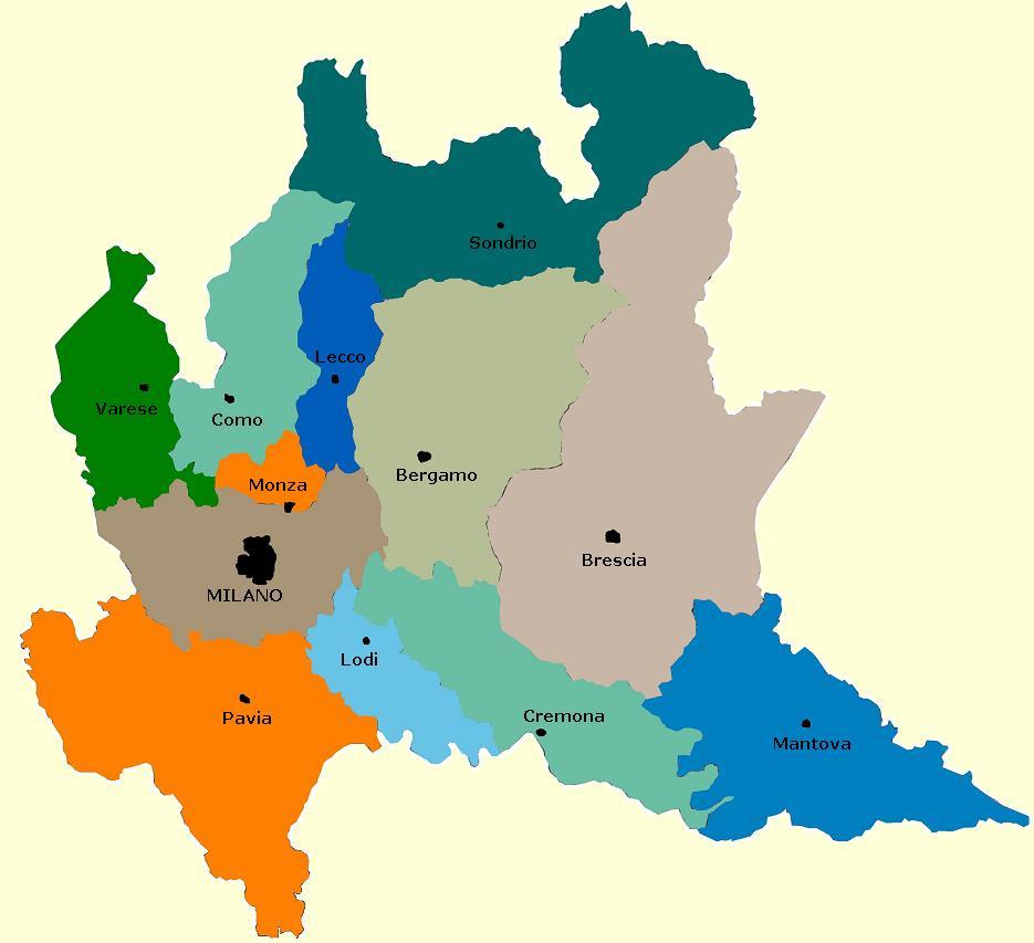Cartina Lombardia Da Stampare.Regione Lombardia Cartina Fisica