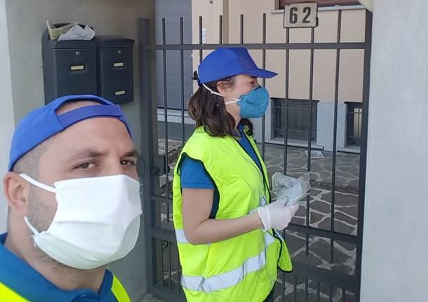 Solbiate Olona, le associazioni donano mascherine e guanti ai cittadini