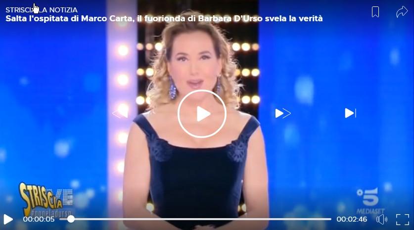 Barbara durso bugie e censure marco carta live