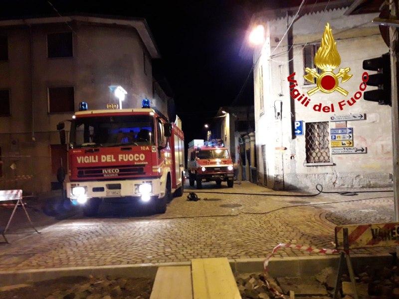 Incendio a Brenta ad abitazione di due piani
